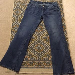 Sevens bootcut distressed jeans